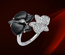 描述 CARTIER  CARESSE D'ORCHIDÉES  PAR CARTIER戒指