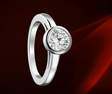描述 CARTIER SOLITAIRE HONEYMOON 铂金、钻石