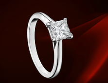 描述 CARTIER SOLITAIRE 1895 铂金,钻石