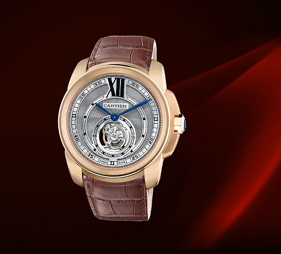 CARTIER CALIBRE DE CARTIER浮动式 陀飞轮腕表