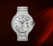 描述 BALLON BLEU DE CARTIER  DIAMOND RIVER腕表,42毫 米