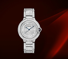描述 BALLON BLEU DE CARTIER DIAMOND RIVER腕表,36毫米